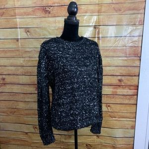 Romeo + Juliet Couture Sparkly Black Sweater NWT L